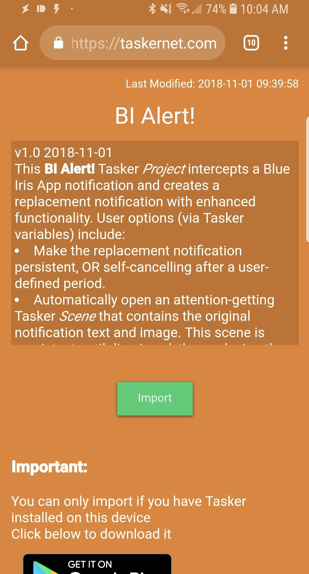 BI Alert! - Enhanced Notifications for the Blue Iris Android